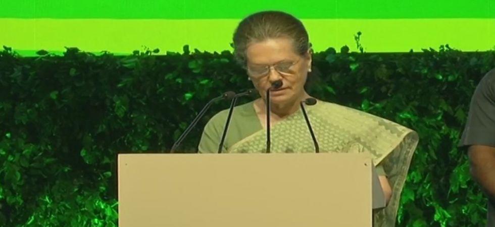 Congress president Sonia Gandhi. (ANI Photo)