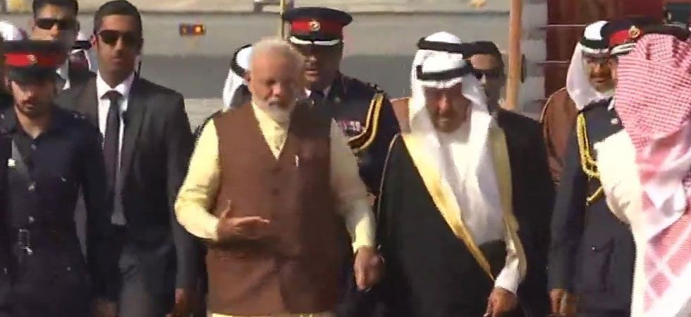 Narendra Modi becomes first Indian Prime Minister to officially visit Bahrain. (Photo: Twitter/ANI)