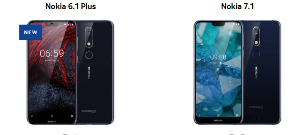 Nokia 6.1 plus and Nokia 7.1 (Image: Nokia.com)