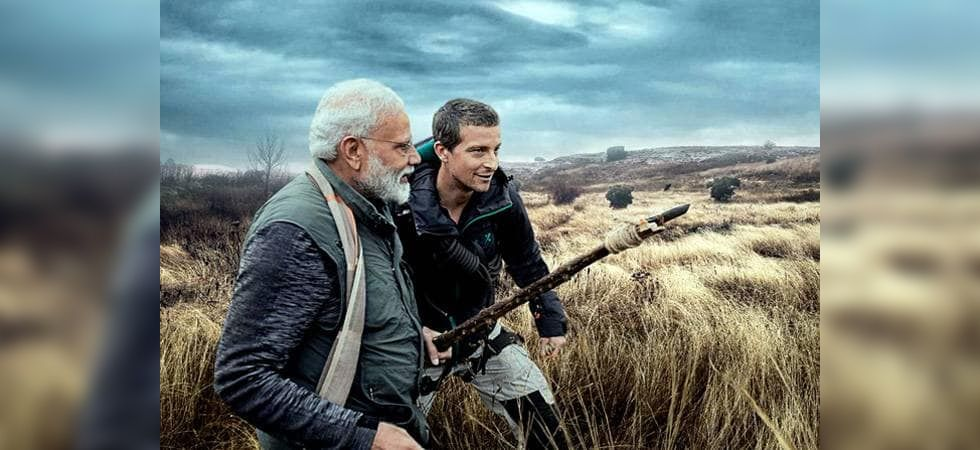 PM Narendra Modi and Bear Grylls  (screen-grab of the show)