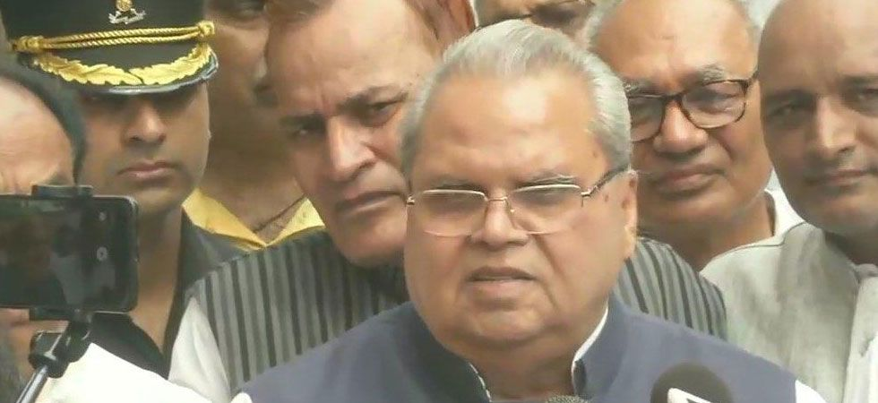 Governor Satya Pal Malik said everything will be normal soon in the Valley. (Image Credit: ANI)