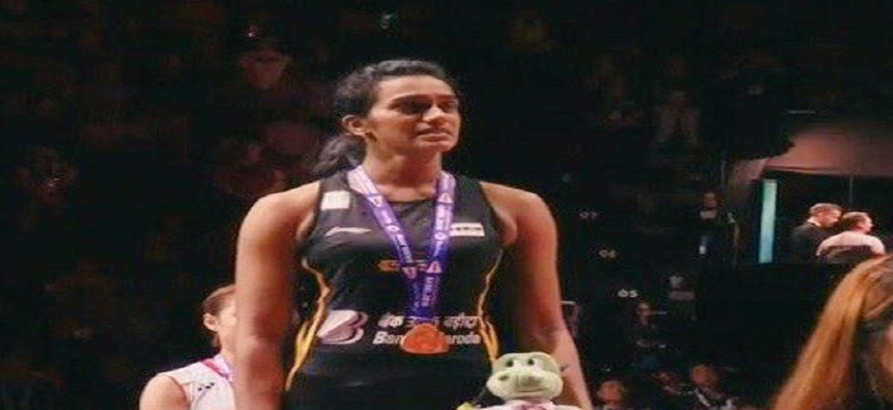 PV Sindhu became the first Indian shuttler to win gold in the Badminton World Championship. (Image credit: Twitter)