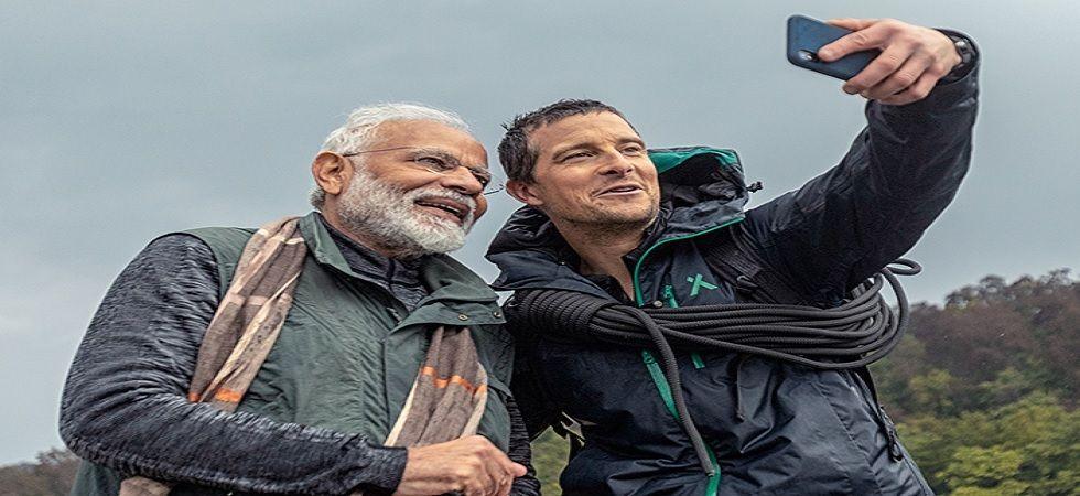 Bear Grylls with PM Modi
