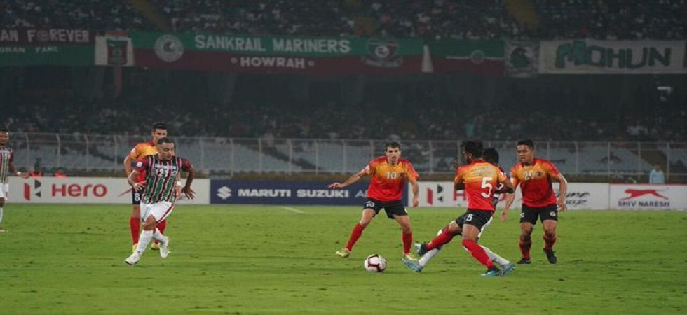 VP Suhair let the team down missing a couple of sitters as Mohun Bagan's game with East Bengal ended 0-0. (Image credit: Twitter)