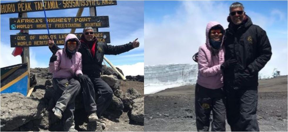 Milind Soman, Ankita Konwar Share Passionate Kiss On Top Of Mt Kilimanjaro.