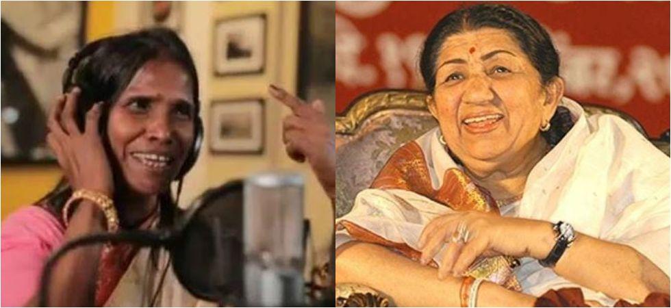 Ranu Mondal and Lata Mangeshkar. (Image: Instagram)