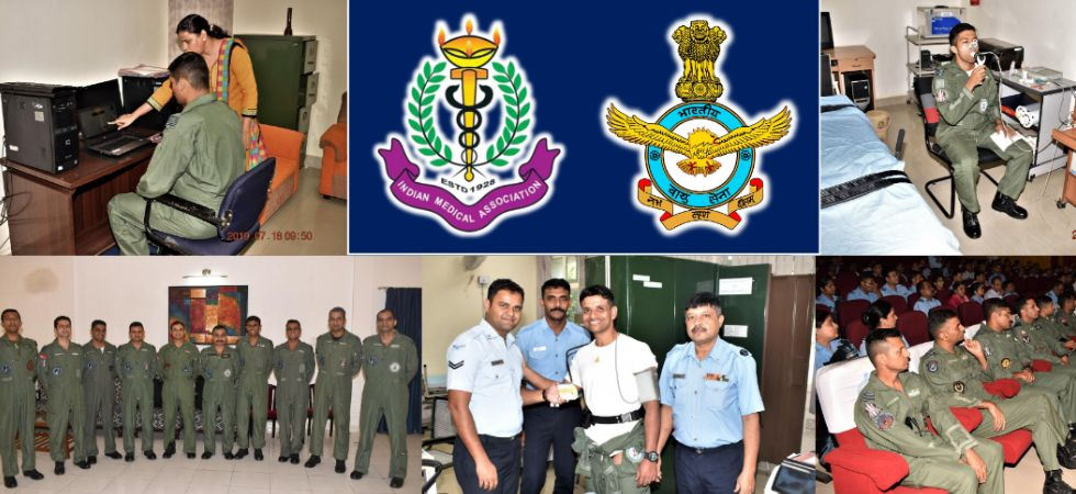Indian Air Force shared a composite image of various activities during the selection process (Image: IAF Tweet)