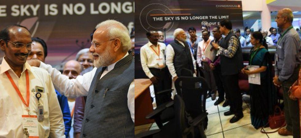 PM Modi with ISRO team (Photo Credit: pib)