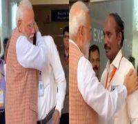 Chandrayaan-2: PM Modi Hugs ISRO Chief K Sivan After He Breaks Down In Tears, Watch Video
