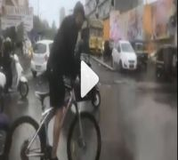 WATCH: Salman Khan Cycles His Way to Dabangg Sets Braving Rainfall