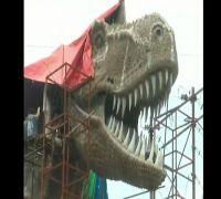 Gigantic Dinosaur Replica, Part Of Gujarat Govt's Proposed World-Class Zoo, Collapses