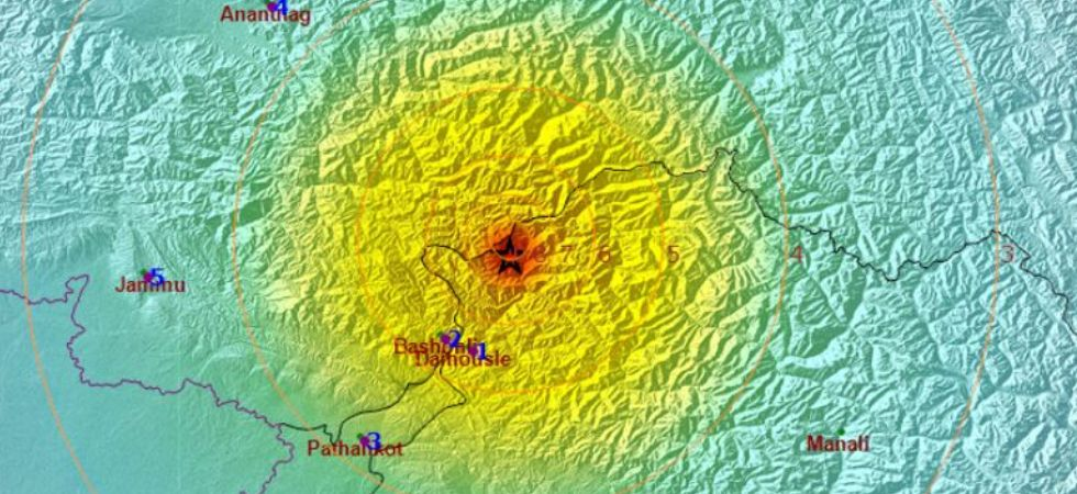 Heat and intensity map of the earthquake (Image: imd.gov.in)