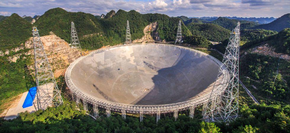 China's Five-hundred-metre Aperture Spherical Radio Telescope (FAST) (Photo Credit: NASA/Jeff Dai (TWAN))