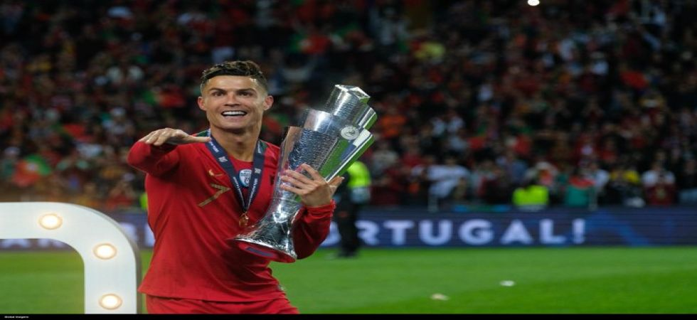 Cristiano Ronaldo scored four goals in his 160th international appearance for Portugal as they defeated Lithuania 5-1 in the Euro 2020 qualifiers. (Image credit: Twitter)