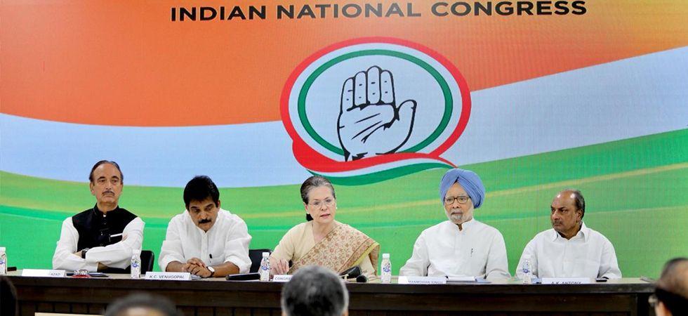 Sonia Gandhi, Dr Manmohan Singh and senior Congress leaders (Twitter Image)