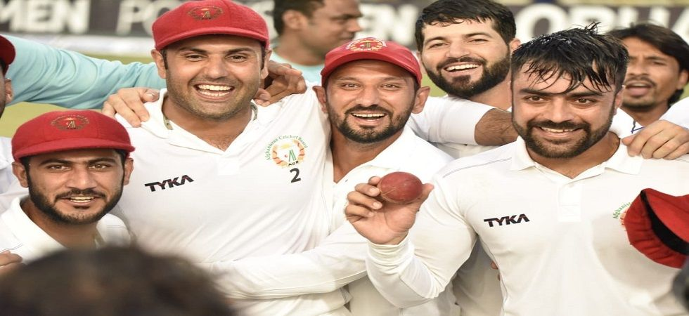 Rashid Khan scored a fifty and took 11 wickets in the one-off Test in his first stint as captain as Afghanistan defeated Bangladesh by 224 runs. (Image credit: Mohammad Nabi Twitter)