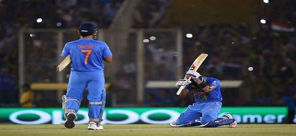 Virat Kohli and MS Dhoni shared a special partnership which helped India eliminate Australia in the 2016 World T20. (Image credit: Virat Kohli Twitter)