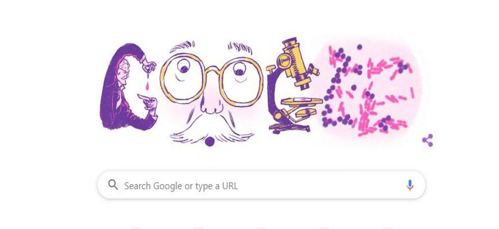 Google Doodle in honour of Hans Christian Gram (Screengrab)