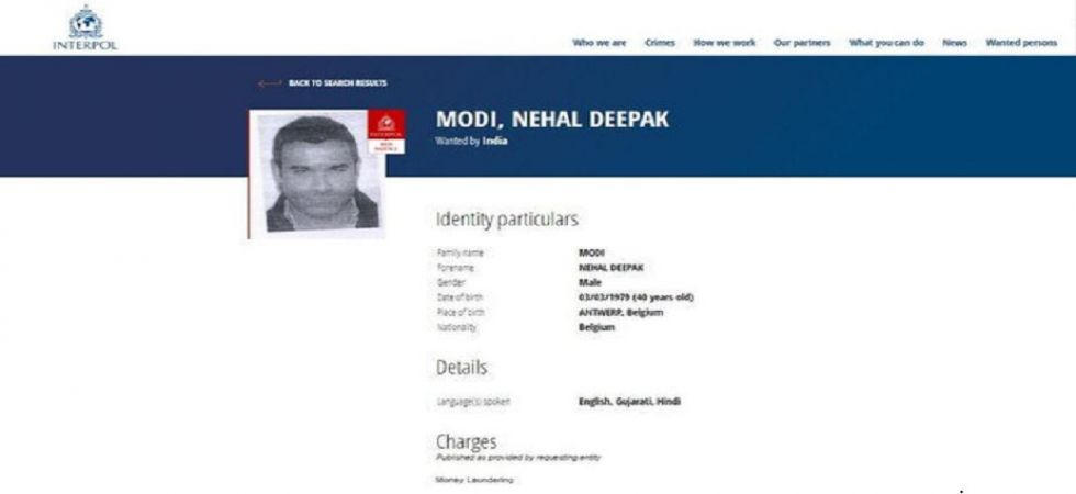 Interpol Arrest Warrant Against Fugitive Billionaire Nirav Modi's Brother (Photo Source: News Nation)