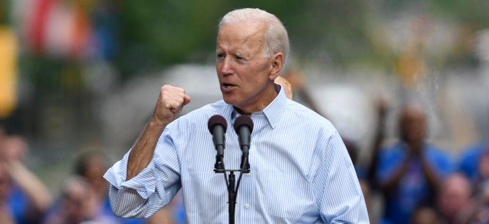 Joe Biden during a rally (Image: IANS)