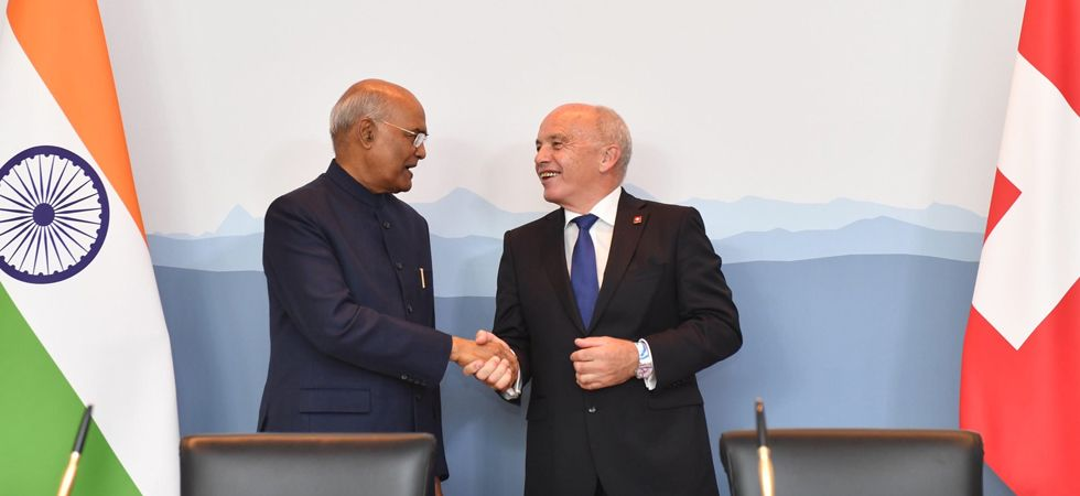 India and Switzerland also expressed a strong commitment to strengthen economic and technology ties. (Photo: Twitter/@rashtrapatibhvn)