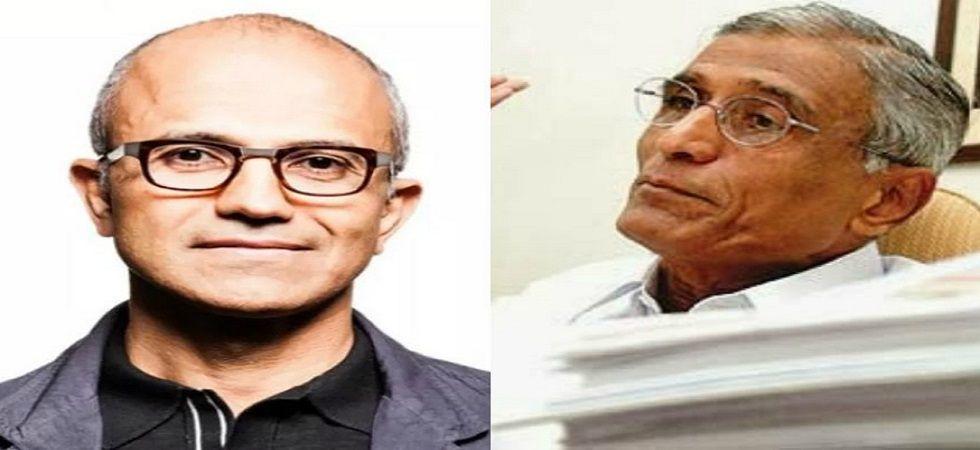 Microsoft CEO Satya Nadella and his father BN Yugandhar