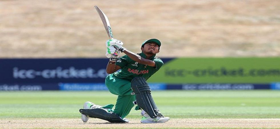 Afif Hossain slammed his maiden fifty off 24 balls as Bangladesh defeated Zimbabwe by three wickets to win the first match of the Twenty20 series. (Image credit: ICC Twitter)