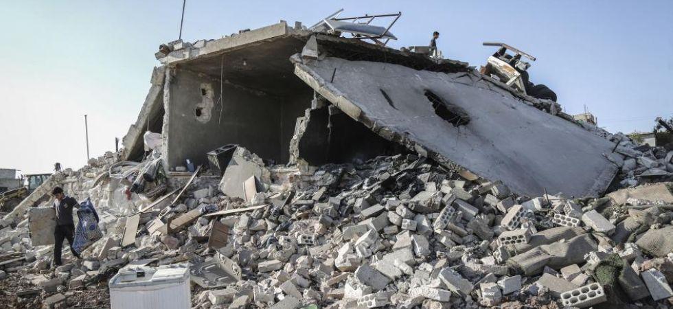 Syria bombardment (Photo Credit: Twitter)