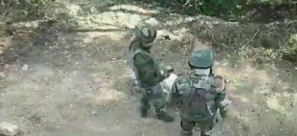 Indian Army destroys 120 mm live mortar shell near Balakote village (Photo Source: ANI)