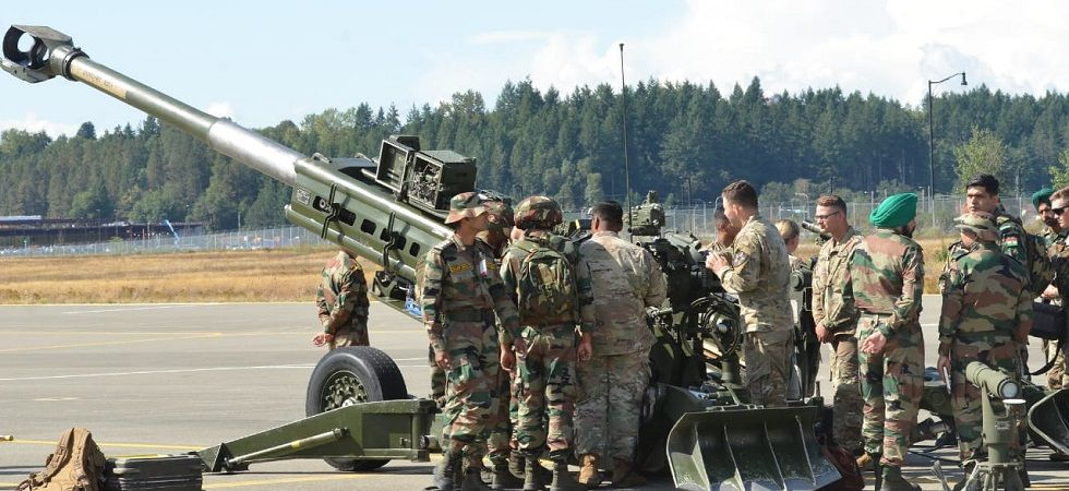This year, 5-20 Infantry Battalion of the US and Assam Regiment from Indian are participating in the joint training exercise. (Image Credit: Special Arrangement)