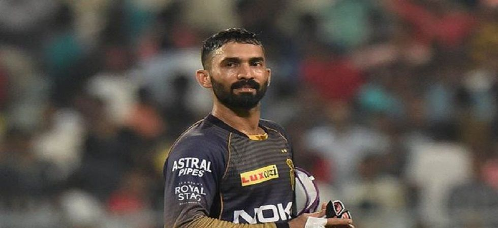 Dinesh Karthik is the captain of the Kolkata Knight Riders and he was seen in the Trinbago Knight Riders dressing room during the CPL T20 clash. (Image credit: Twitter)