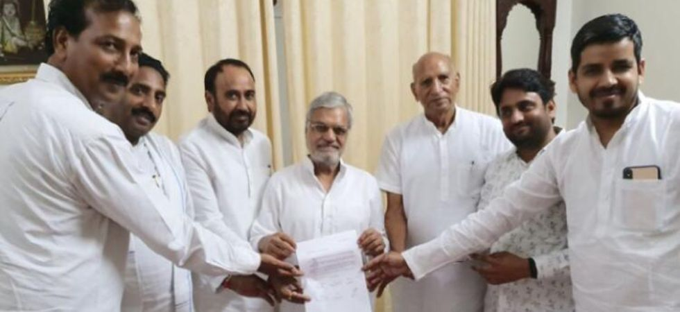All six MLAs gave a letter to the state assembly speaker CP Joshi on Monday (Image: News Nation)