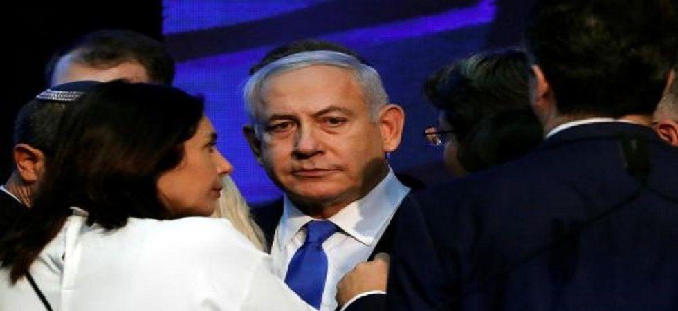 Israeli Prime Minister Benjamin Netanyahu's Likud party trailed its main rival Blue and White. (File)