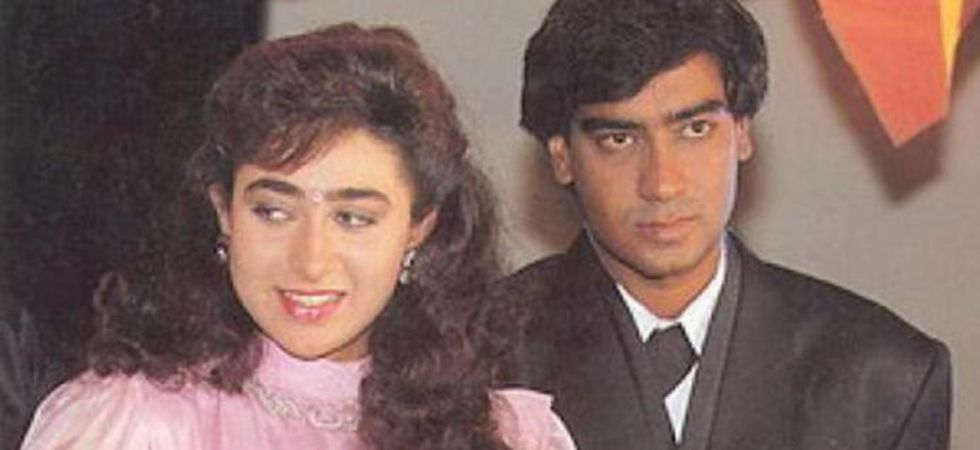Karisma Kapoor and Ajay Devgn.