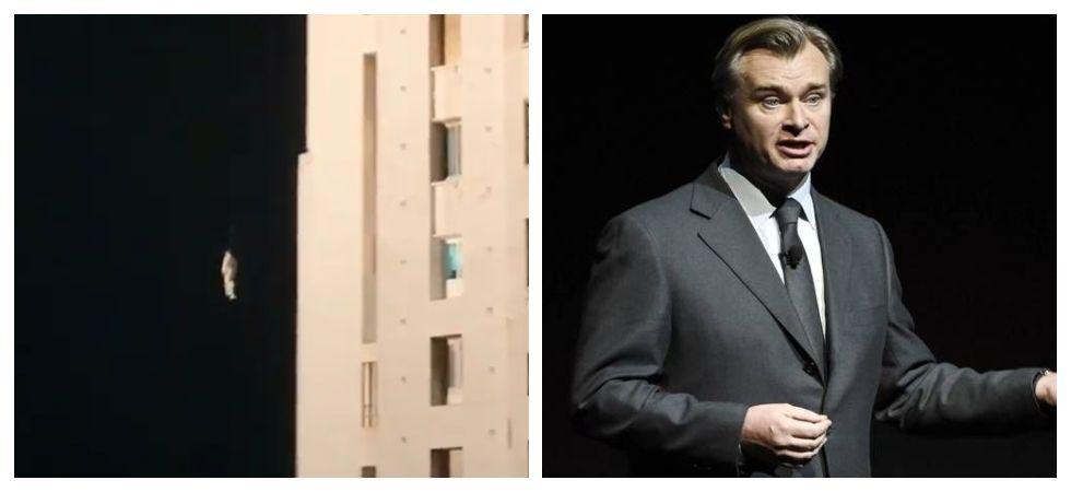 Robert Pattinson seen jumping off building for Tenet (Photo: Instagram)