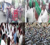 1,500 UP Farmers Begin Their March From Noida Sector-69 To Delhi's Kisan Ghat Over Loan Waiver