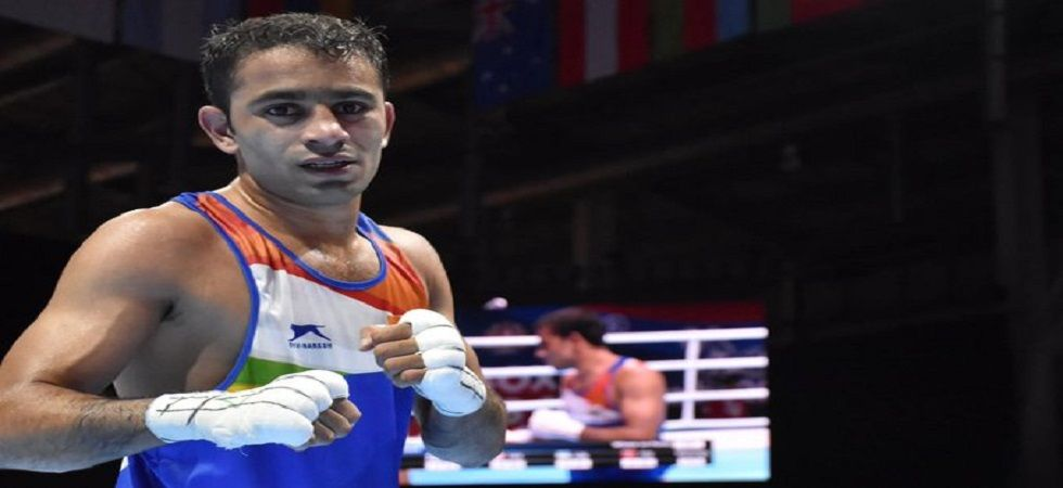 Amit Panghal and Manish Kaushik became the first Indian boxers to reach the final of the World Boxing Championships. (Image credit: Twitter_