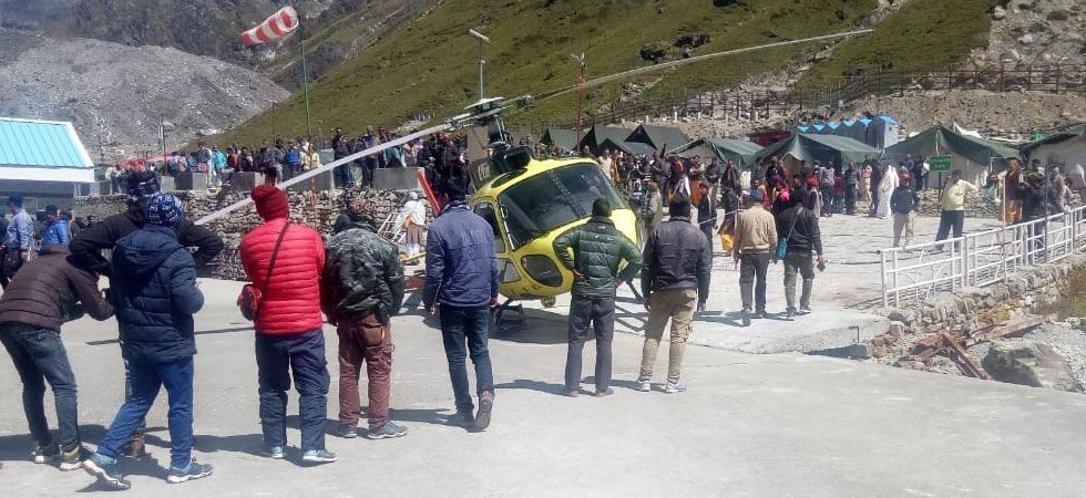 The incident took place when the pilgrims were returning from Kedarnath to Fata in the helicopter. (Image Credit: Twitter)