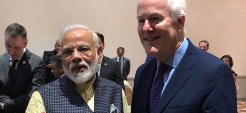 Jon Cornyn, a senator from Texas, was one of the guests at the 'Howdy. Modi!' event (Image: @PMOIndia)