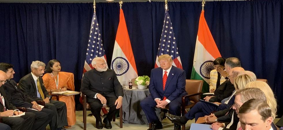 Prime Minister Narendra Modi meets US President Donald Trump on the sidelines of UNGA in New York (Photo Source: Twitter - @ PMOIndia)