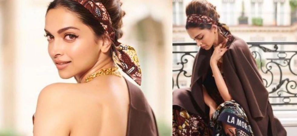 Deepika Padukone Swirls Vintage Storm At Paris Fashion Week 2019