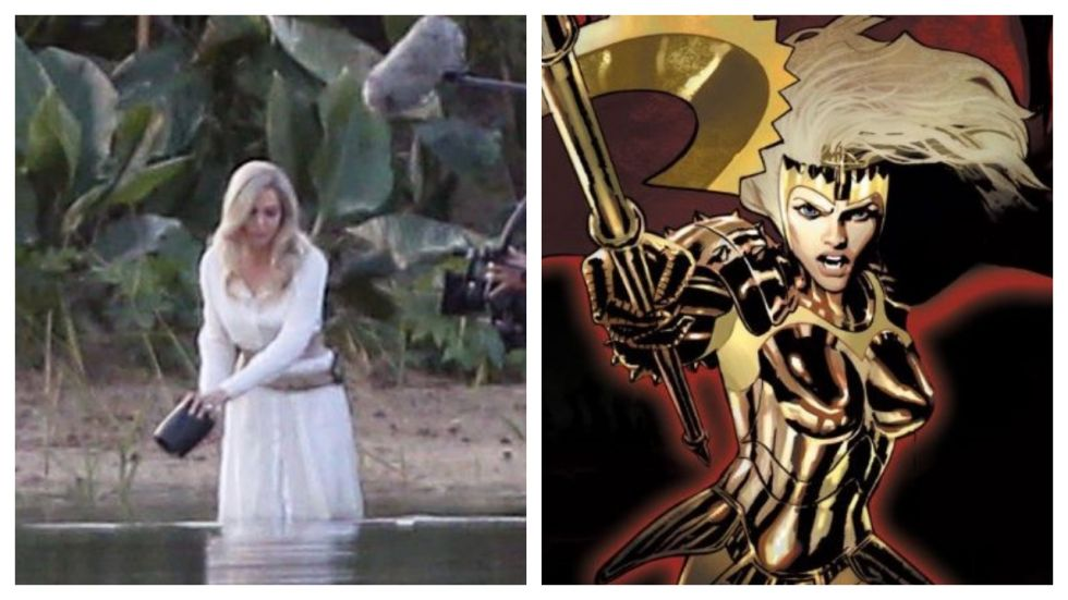 Angelina Jolie Goes 'Blonde' for warrior Thena role (Photo: Twitter)