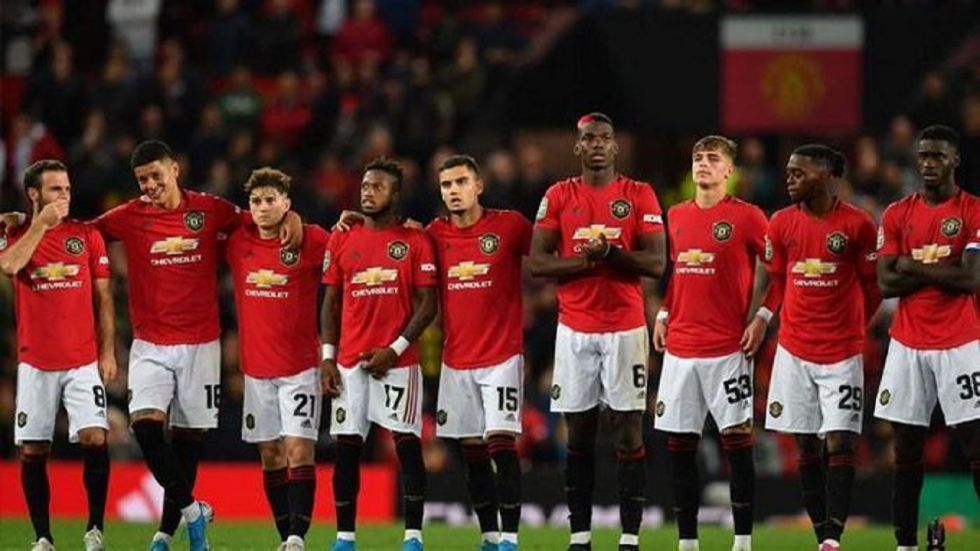 Manchester United survived a scare against Rochdale in the League Cup Football as they won 5-3 on penalties. (Image credit: Twitter)