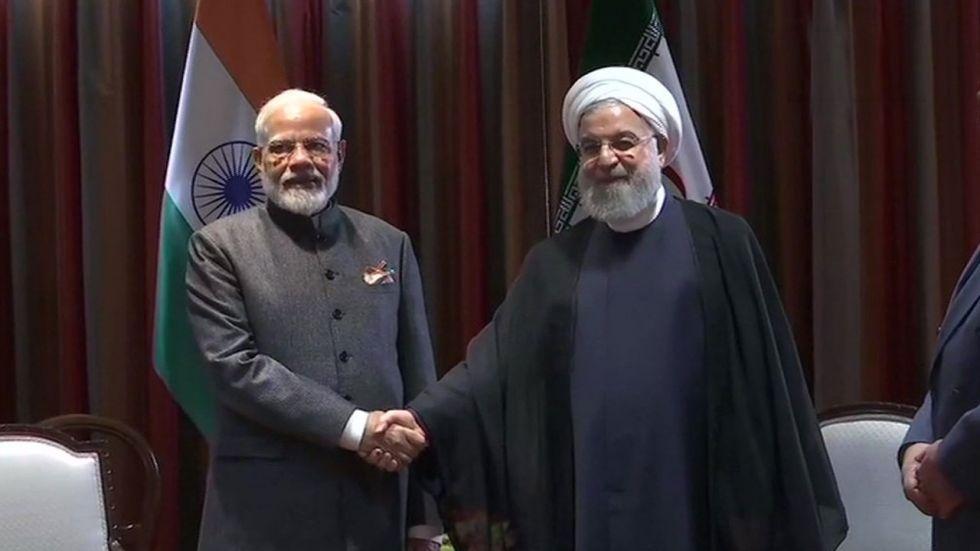 Prime Minister Narendra Modi with Iranian President Hassan Rouhani (File Photo)