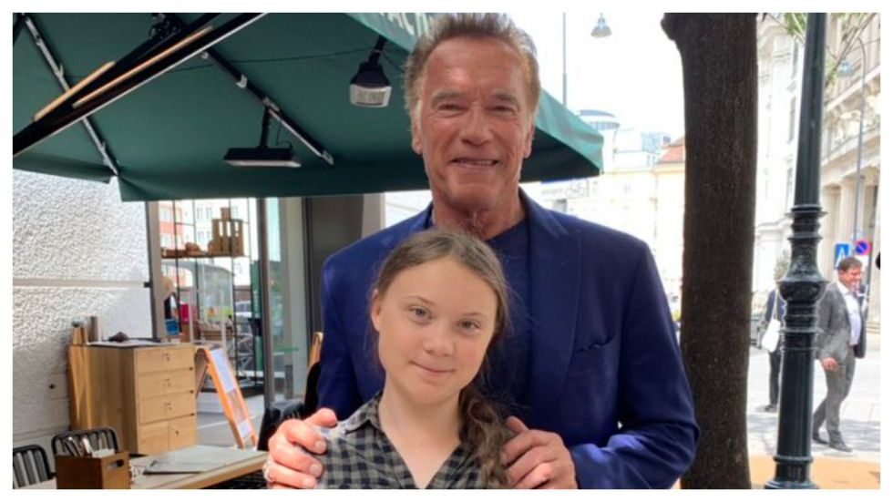 Greta Thunberg Says Arnold Schwarzenegger Offered To Lend Her His Electric Car (Photo: Twitter)