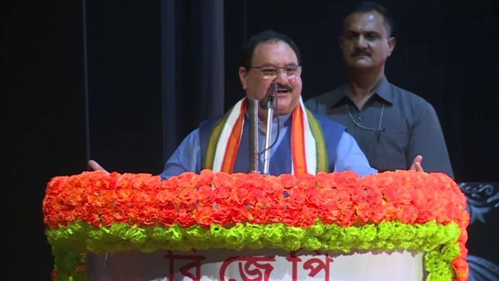 JP Nadda also said that Gandhi's statement was used by Pakistan in United Nations to oppose the move. (Image Credit: ANI)