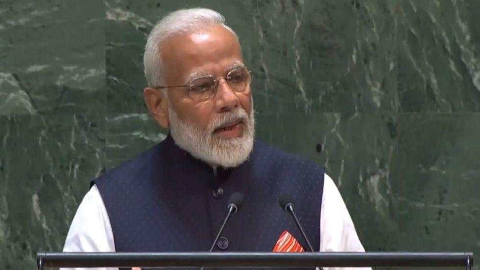 Prime Minister Narendra Modi at 74th UNGA session in New York.
