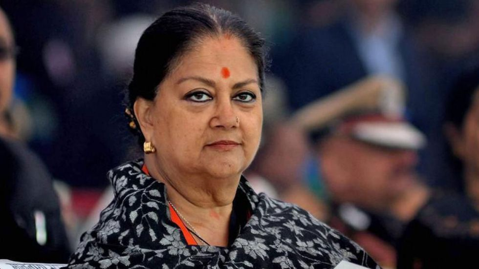 Vasundhara Raje also thanked PM Modi for abrogating Article 370. (File Photo: PTI)