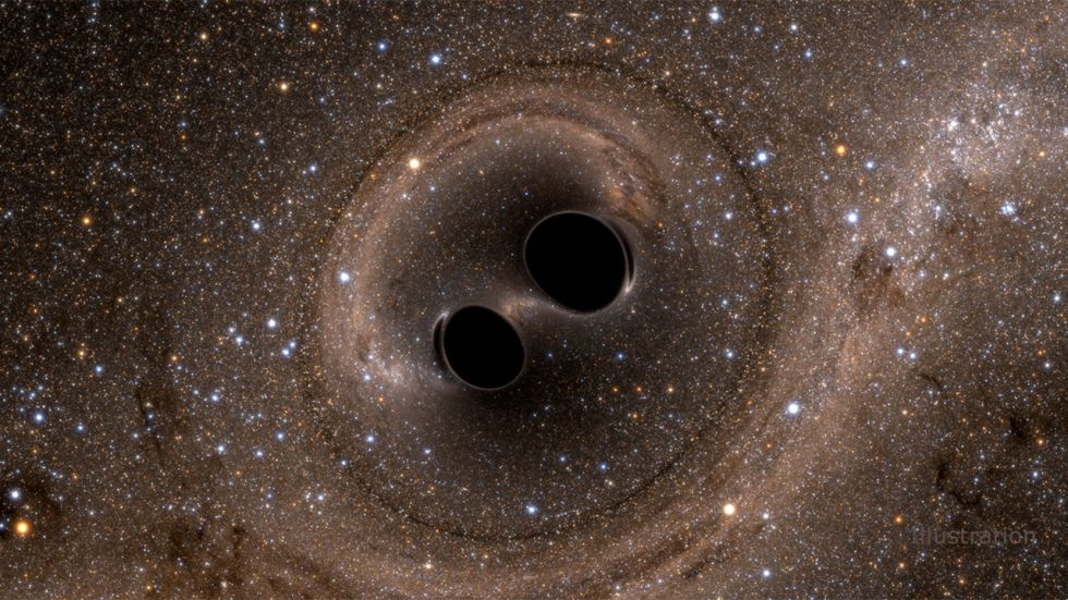 Black Holes on collision course (Photo Credit: NASA)