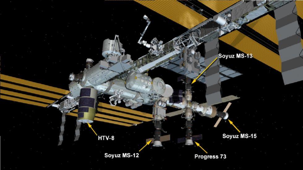 Japan's Kounotori Spaceship was installed to the ISS. (Photo: NASA)